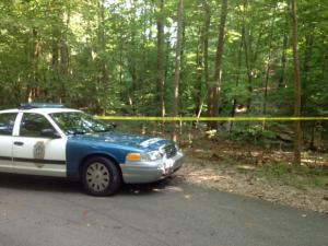 A body was found early Saturday on a walking trail at Lake Johnson, Raleigh police said. (Photo by Kiara Palmer)