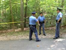 A body was found early Saturday, Aug. 24, 2013 on a walking trail at Lake Johnson, Raleigh police said.