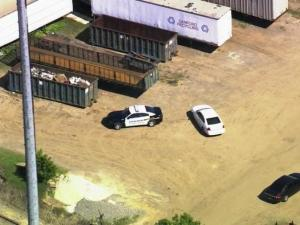An employee was killed Monday afternoon when a large stacked bale of copper wire fell on him at Lee Iron & Metal in Sanford, police said.