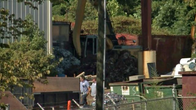 An employee was killed Aug. 26, 2013, when a large stacked bale of copper wire fell on him at Lee Iron & Metal in Sanford, police said.