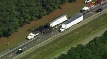IMAGE: I-95 reopens near Rocky Mount after tractor-trailer fire
