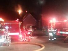 Raw video: Fire burns Raleigh home