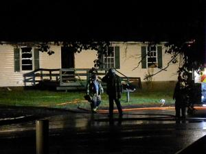 One person was killed Saturday night in a duplex apartment fire in Fayetteville, police said. Photo by Billy Marts