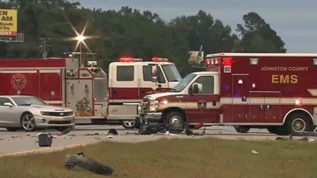 One person died early Wednesday in a wreck on U.S. Highway 70 near Pine Level, Johnston County authorities said.
