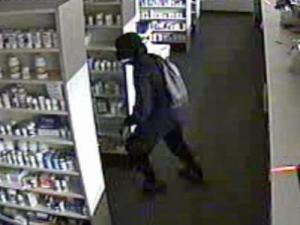 Security video captured this image of a pharmacy store robbery in Cumberland County.