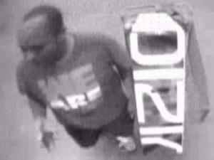 Clayton police are looking for this man in connection with the Oct. 2 theft of a television from a local Walmart store.