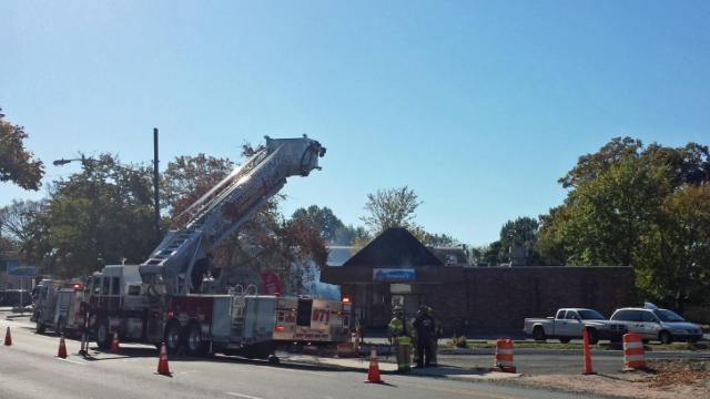 Firefighters responded to Domino's Pizza in Carrboro Saturday morning where a fire was reported on the roof. (Photos submitted by Jason Collins)