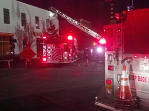 Fire crews responded to a blaze that damaged a pizzeria in downtown Durham. Three apartments above the restaurant were also damaged, but no one was hurt.