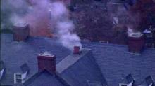 IMAGE: Firefighters extinguish fire in UNC dorm attic