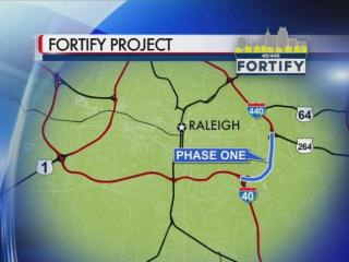Fortify project to rebuild an 11.5-mile stretch of Interstate 40/440 are expected to cause heavy delays over the next three years.