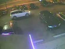 Police are looking for this white SUV, which was seen in the parking lot of Carolina Square on Nov. 1, 2013, just before a shooting that killed two people.
