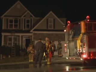 """A fire that authorities are calling """"suspicious"""" ripped through a Raleigh home Saturday, Nov. 9, 2013."""