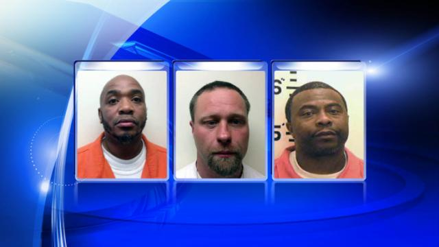 Dominaque Thorpe, Kenneth Sneed and Quentin Royster, left to right, have been charged with murder in an August 2007 homicide in Roxboro.