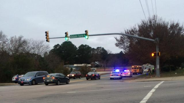 No injuries were reported after a school bus was involved in an accident Tuesday morning near Kildaire Farm and Ten Ten roads in Apex.
