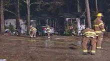 IMAGE: Fire destroys Knightdale home, displaces 10