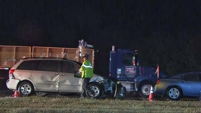 A wreck involving multiple vehicles was causing big delays early Wednesday on Interstate 40 East near Garner.