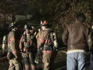 Firefighters extinguished a blaze that caused heavy damage to a Cary triplex late Wednesday, Nov. 27, 2013.