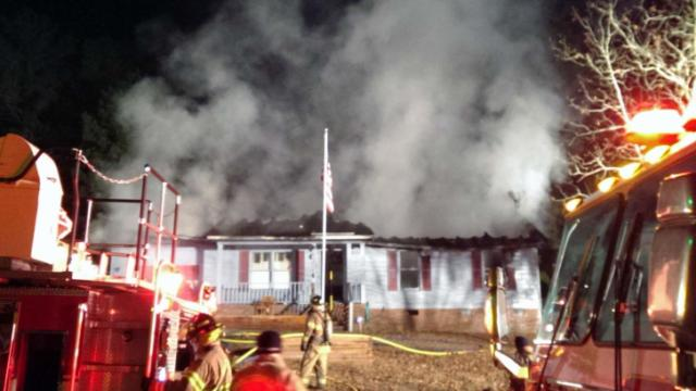 Two adults and two pets were displaced from a home west of downtown Fayetteville early Friday, Nov. 29, 2013, due to a fire, officials said. (photo courtesy David Sellers)