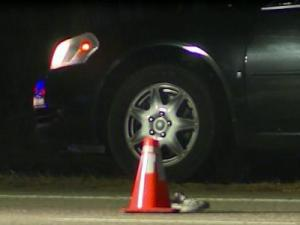 A motorcyclist died and a pedestrian was in critical condition following a crash on the All American Freeway in Fayetteville on Dec. 2, 2013.
