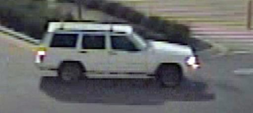 Raleigh police say they are searching for a person who drove this white SUV after using a stolen credit card on Nov. 14, 2013.