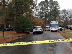 A 42-year-old man was killed early Saturday, Dec. 7, 2013, in a shooting at a home on Blarney Court in southeast Raleigh, police said.