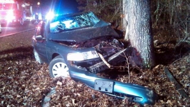 A Moore County deputy was injured in a single-car wreck near Carthage on Dec. 9, 2013, authorities said.
