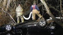 Car in Harnett creek