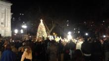 IMAGE: McCrory lights State Capitol Christmas tree