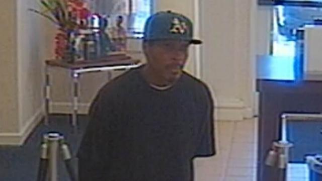 Fayetteville police were searching for a man who robbed a First Citizens Bank branch at 3604 Ramsey Road on Dec. 12, 2013.