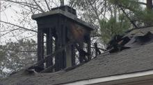 IMAGE: Chimney fire damages house near Fuquay-Varina