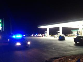 A shooting was reported at a BP gas station in Henderson on Dec. 10, 2013. (Arielle Clay / WRAL)