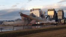 IMAGES: Implosion marks end for Goldsboro power plant