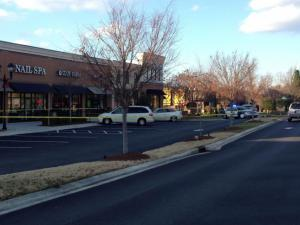 A shooting was reported at the Poyner Place shopping center in north Raleigh on Dec. 24, 2013.