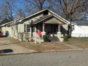 A home at 610 S. Sixth St. in Smithfield was damaged by fire on the morning of Dec. 25, 2013. (Arielle Clay / WRAL)