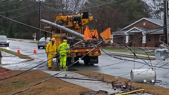 Chapel Hill police arrested a person suspected of driving while impaired who crashed into several utility poles, knocking out power to more than 2,000 Orange County residents on Dec. 29, 2013.
