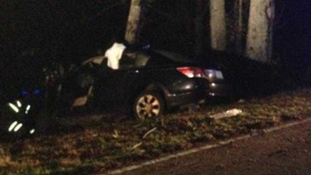 A 17-year-old girl was injured in a wreck along N.C. Highway 39 near Kenly on Dec. 29, 2013. (Beau Minnick/WRAL)