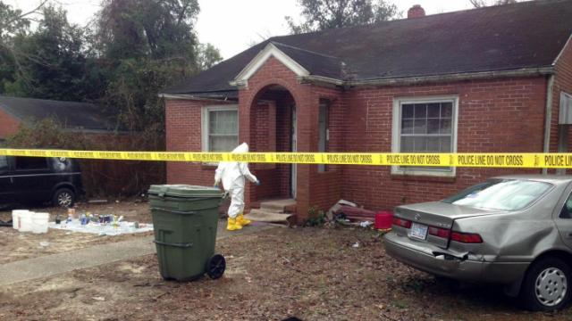 Police broke up a methamphetamine manufacturing operation in a Fayetteville home on Dec. 29, 2013.