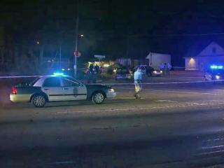 One person was injured early Wednesday, Jan. 1, 2014, in a shooting near downtown Raleigh.