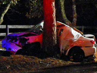 A Union Pines High School student died Jan. 2, 2014, in a single-car crash on Summer Hill Church Road near Cook Road in Carthage. (Photo courtesy of The Aberdeen Times)