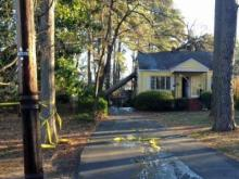 A downed power line sparked a fire early Friday at a home in the 2000 block of Reaves Drive north of downtown Raleigh, officials said.