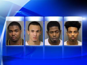 From left: Raheem Elijah Crossley, Luis Joel Herrera, Ussef Kamara and Troy Michael Williamson
