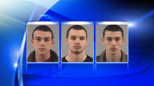 William Anthony Pope, Christian Wayne Lewis and Jacob William Faison, from left, are charged are accused in an assault and drug deal, according to Clayton police.