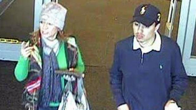 Apex police want the public's help in identifying these people, captured on security video, who are wanted for questioning in credit card theft.