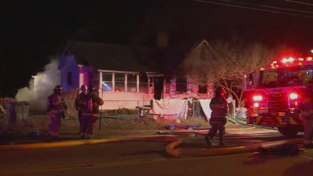 Two people were rescued from a fire Thursday, Jan. 14, 2014, and three people were displaced, authorities said. They were no injuries, but six dogs died in the blaze.
