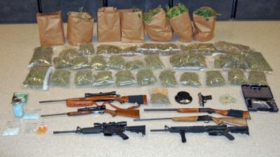 """Authorities said they raided a """"highly sophisticated"""" marijuana operation at a home in Robbins."""