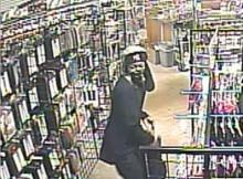 Fayetteville police released this security video image of two men who robbed Cupid's Boutique on North Reilly Road on Jan. 8, 2014. One of the robbers shot the owner, who was in serious condition.