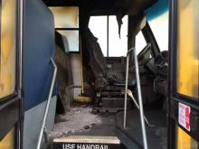 Five schools buses were vandalized early Thursday, Feb. 6, 2014, outside Harnett Primary School in Dunn, police said.