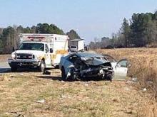 Three injured in Sampson County wreck