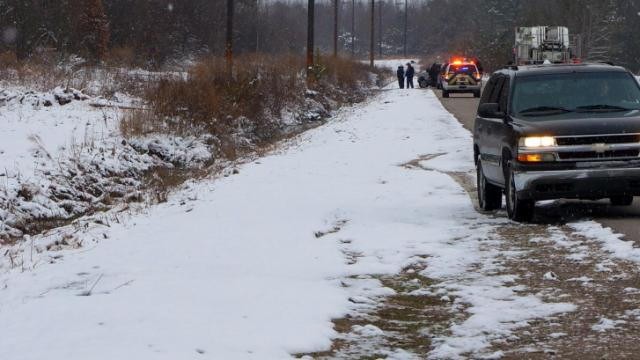 Cumberland County sheriff's deputies were investigating the death of a man whose body was found Wednesday morning (Feb. 12, 2014) in an icy ditch along Hughes Road near Vander.