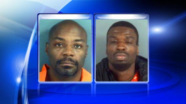 A traffic stop led Fayetteville police to 14 motor vehicle thefts. Ambrose Dumone Murray (left) and Jonathan Willie Covington (right) face multiple charges.